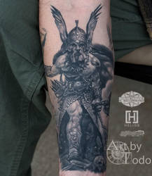 Frazetta-warrior-by-todo-ABT-Tattoo by TodoArtist