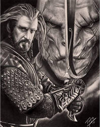 Thorin and Azog  by TodoArtist