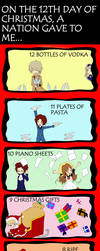 12 Days of Hetalia Christmas by Brittlander