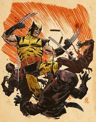 Wolverine By Deankotz Colorized by aaron-hackmann