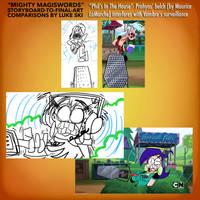 Mighty MagiSwords Storyboards - Belch surveillance by artbylukeski