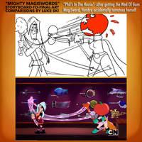 Mighty MagiSwords Storyboards - Tomato rebound by artbylukeski