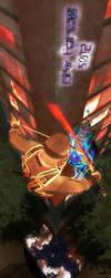 Ninja VS Samurai by eventorizon