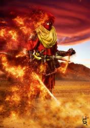 Red Ninja General For Musha Shugyo Ninja Saga by eventorizon