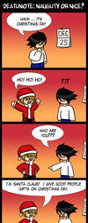 Deathnote: Naughty or Nice? by ilovestrawberries