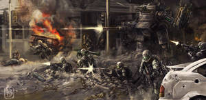 Urban Combat by NeilBlade