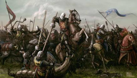 Mounted battle by NeilBlade