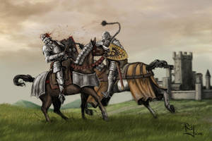 mounted combat by NeilBlade