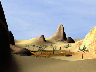 Desert Oasis by TedRaikas
