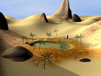 Desert Oasis II by TedRaikas