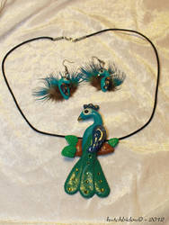 Jewelry Set: Peacock by AnimalisCreations