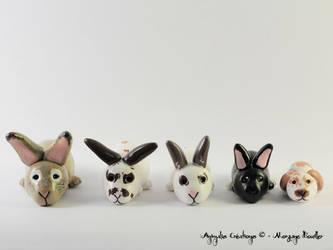 Custom rabbits - loving bunnies by AnimalisCreations