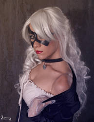 Saloon Black Cat Tease by KayLynn-Syrin