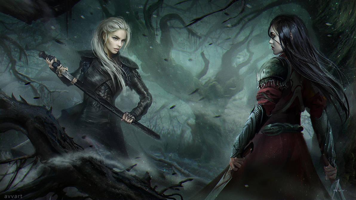 in the dark forest by avvart