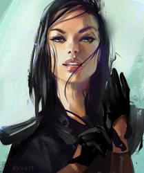 portrait sketch by avvart