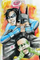 .:Batman:. Let's Be Silly by xLuneNoire