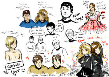Sketches (new B1A4 song and Star Trek) by RGFabArt