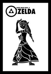 Smash Vectors: Zelda (black) by TriforceJ