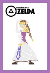 Smash Vectors: Zelda (color) by TriforceJ