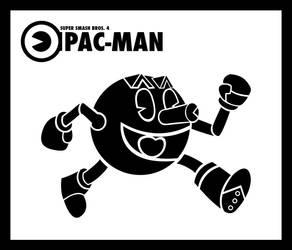 Smash Vectors: Pac-Man (black) by TriforceJ