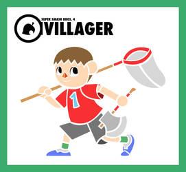 Smash Vectors: Villager (color) by TriforceJ