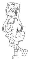 Alice in Wonderland - Lineart by Kikyuuki