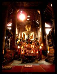 Buddha in Wat Xieng Thong by DenisLi