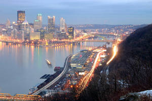 Pittsburgh at Dusk by DragonWolfACe