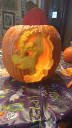 Autumn Blaze Pumpkin!! by BluiepieMLP
