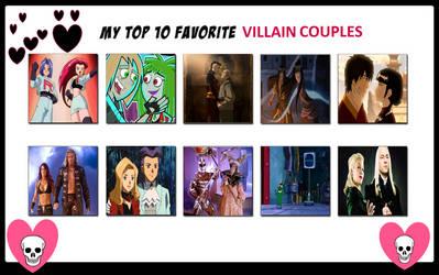 Top 10 Villains Couples Meme by raidpirate52