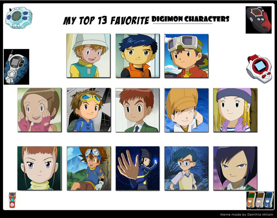 Top 13 Digimon Human Characters by raidpirate52