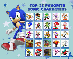 Top 25 Sonic Characters by raidpirate52