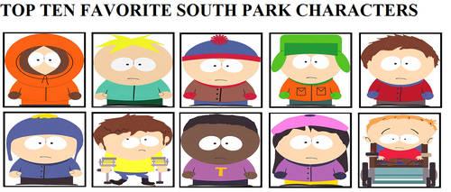 Top Ten Favorite South Park Characters by raidpirate52