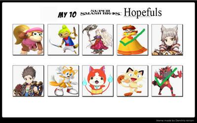 10 Smash Hopefuls - 2/10 CONFIRMED by raidpirate52