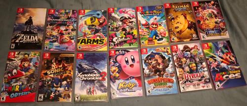 Nintendo Switch Games (so far) by raidpirate52