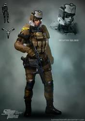 Light Infantry Trooper by katmachiavelli