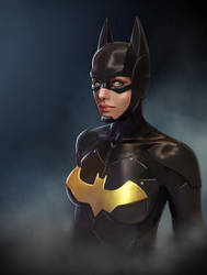 Batgirl Portrait by katmachiavelli