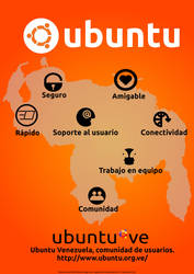 Ubuntu-ve Poster naranja by avaldive