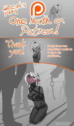 One month on Patreon. Thank You! by Zeahs-Kinky-Corner