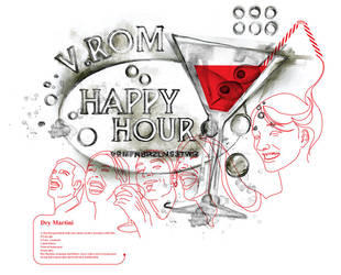 V.ROM t-shirt Happy Hour by gurski