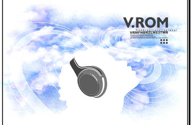V.ROM t-shirt CLOUDS by gurski