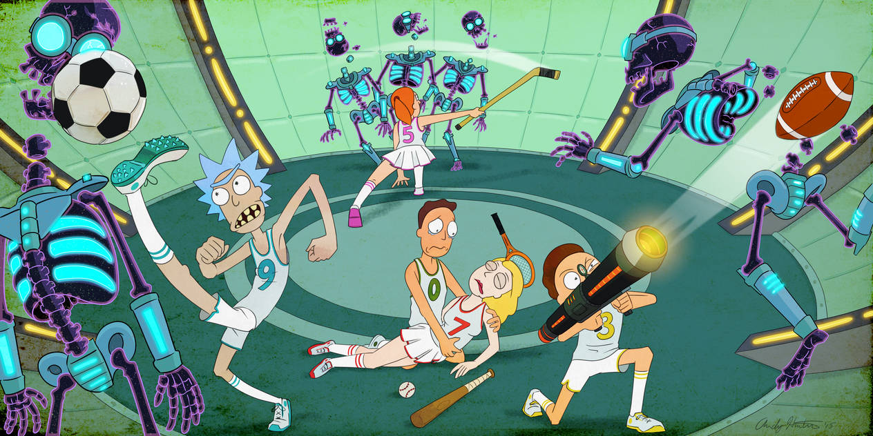 Rick and Morty Deathsport 2000 by Noahs-Brothers-Ark