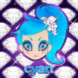 Glitter Cyan by 3ahia