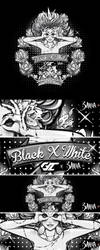The Queen of Playful Heart Black n White by 3ahia