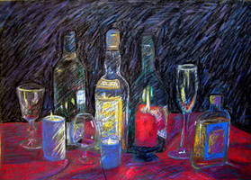 Bottles and Candles by Jonthearchitect
