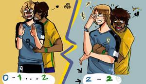 Brasil Uruguay 2016 eliminatorias by fly4level