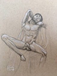 Male Nude- Grecian style pose by J-Cody
