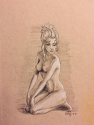Nude figure- 1700s style by J-Cody