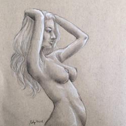 Nude anatomy sketch by J-Cody