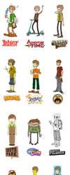 my cartoons portraits by Ap6y3